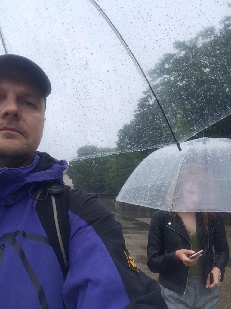 Дождь в парке Уэно