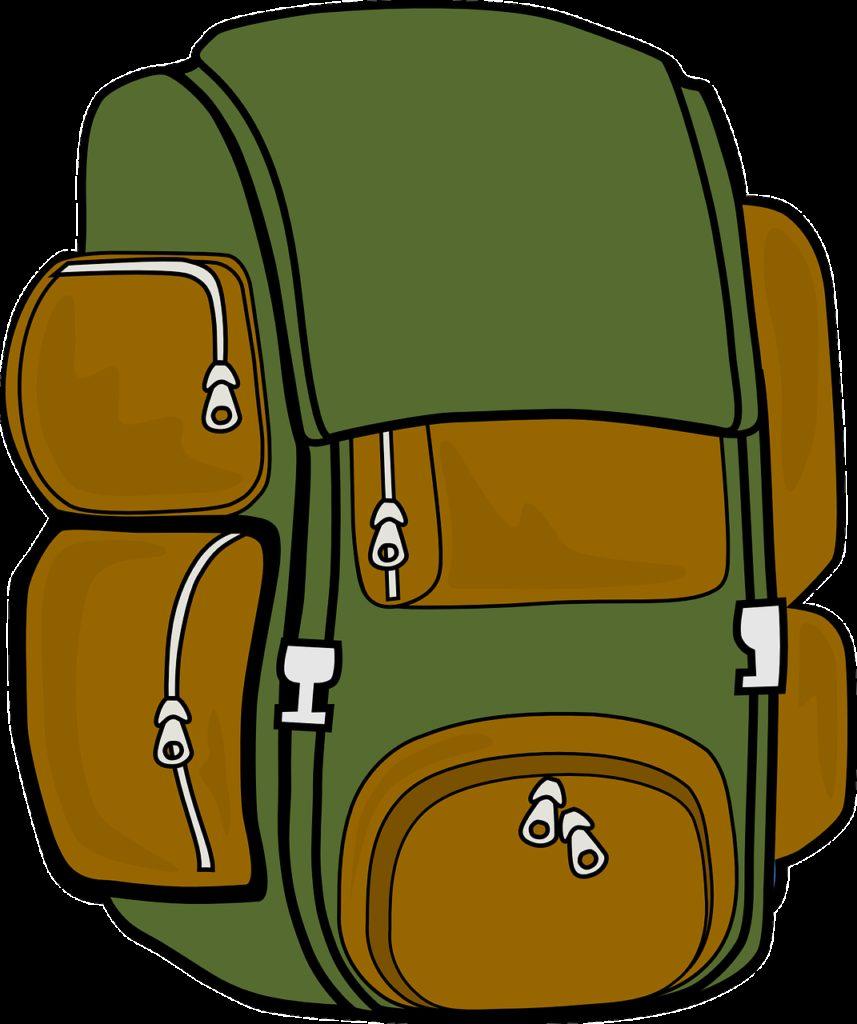 backpack, bag, hiking